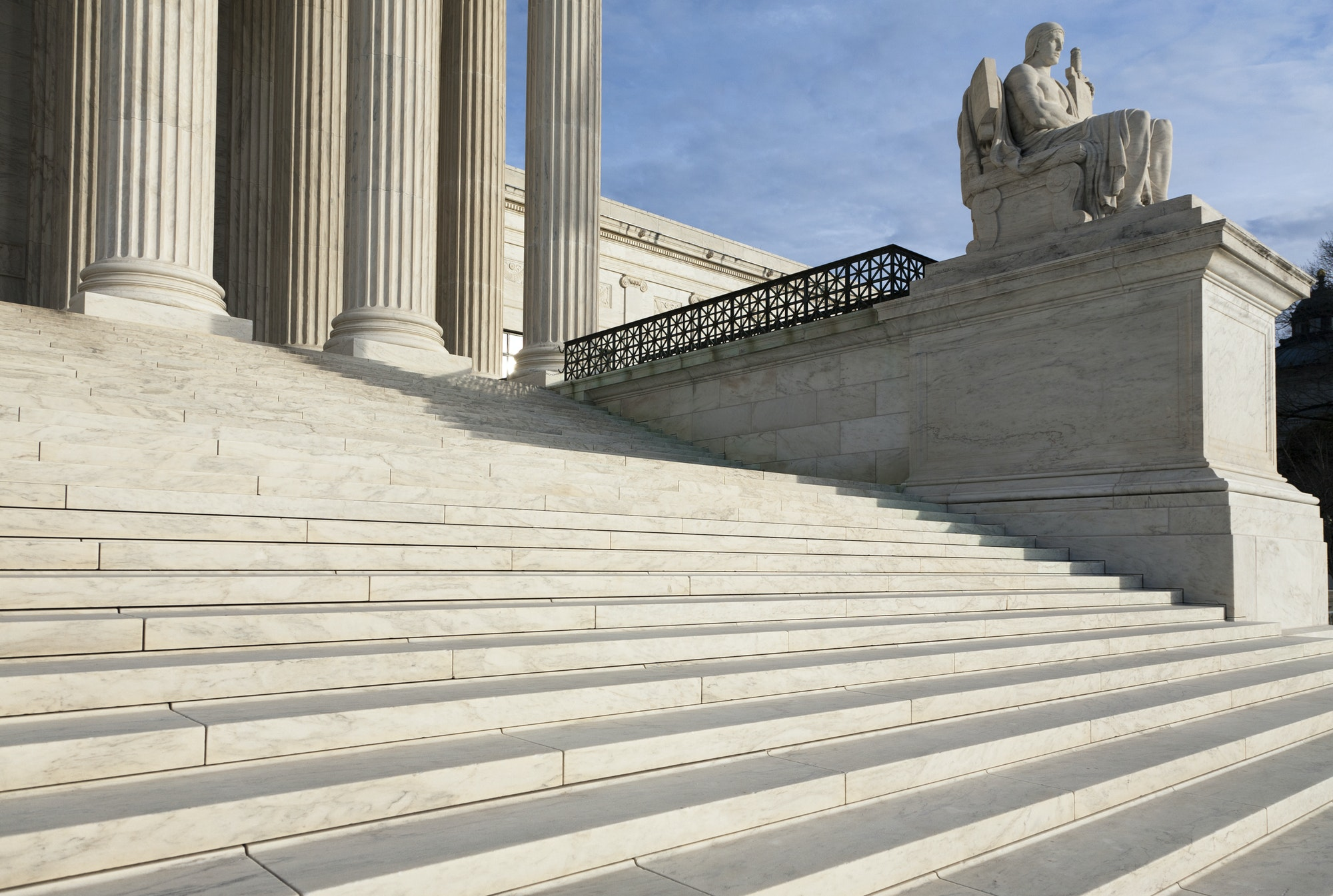 Steps and Statue of the Supreme Court Building